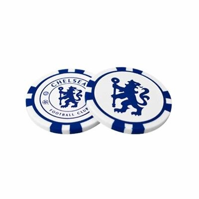 Chelsea Football Club Crest Poker Chip Style Golf Ball Markers with Free UK P&P