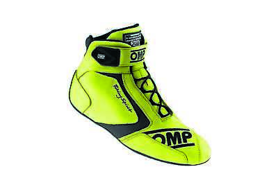 OMP Racing Size 12 Lime 40th Anniversary Driving Shoes P/N IC80109947