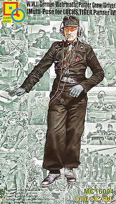 CLASSY HOBBY MC16004 WWII German Tank Driver for Luchs/Tiger/Panzer IV in 1:16