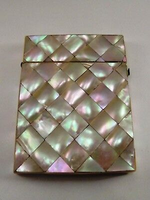 Antique Mother Of Pearl Card Horder Ref 1065