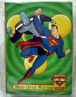 Complete Set of 34 Trading Cards Superman Action Packs 1996 Skybox Mint (21)