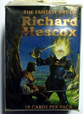 Complete Set of 90 Trading Cards Richard Hescox 1994 Comic Images Mint (71)