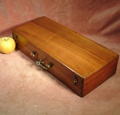 ANTIQUE BOURGEOIS AINE WALNUT ARTISTS PAINT BOX good big box c1895 painting box