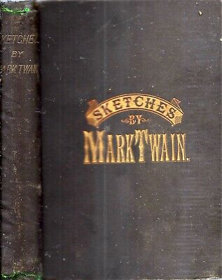 Very Rare 1880 Sketches Mark Twain Pirate Edition Jumping Frog Duels