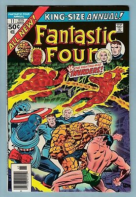 Fantastic Four King-Size Annual # 11 Vfn- (7/7.5) Glossy Cents 1976- New Stories