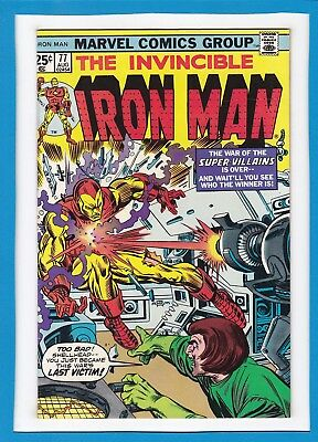 Invincible Iron Man #77_August 1975_Vf Minus_Mad Thinker_Yellow Claw_Firebrand!