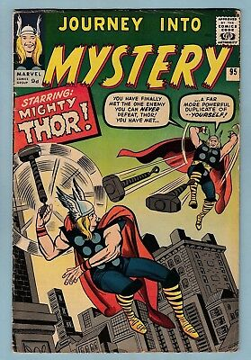 JOURNEY INTO MYSTERY # 95 VG+ (4.5) THOR vs THOR_GLOSSY PENCE PRICE VARIANT_1963