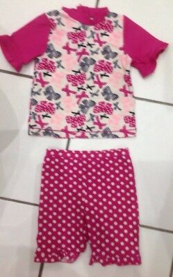 18-24 Months Girls 2 Piece Pink UV Sunsuit