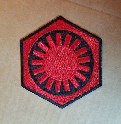 Star Wars First Order  Red Uniform Patch 3 1/2 inches tall patch