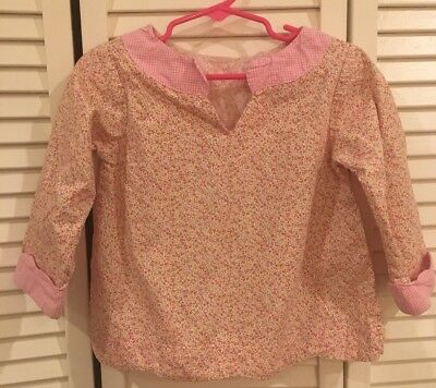 3t Alice kathleen Girls Pink And White Floral Gingham Blouses