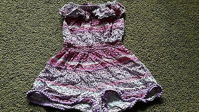 Girls strapless pink playsuit age approx 5-6