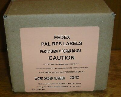 FedEx PAL RPS Labels Part# 156297 Format #f435, New in Unopened Box