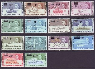 British Antarctic Territory B A T 1971 SC 25-38 MH Set