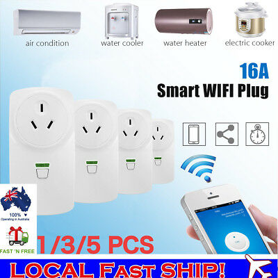 Wireless Wifi Smart Power AU Plug Outlet Switch Socket For ECHO ALEXA GOOGLE