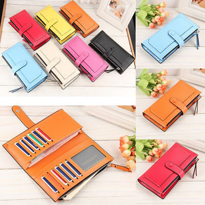 Hot New Women's Long Leather Clutch Wallet Card Holder Cases Purse Handbags US