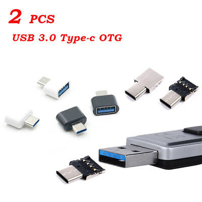 2X USB-C Android OTG Adapter Micro Type-C Converter USB 3.1 Male To USB Female
