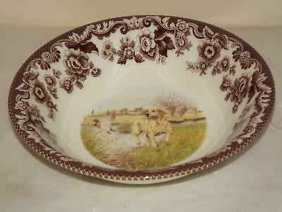"""Spode Woodland Hunting Dogs YELLOW LABRADOR 8.25"""" SOUP / CEREAL PASTA BOWL New"""