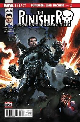 Punisher #218 (Marvel 2018) Near Mint First Print Bagged And Boarded