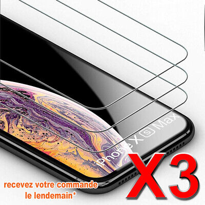 Vitre de protection en VERRE TREMPÉ film écran iPhone 10 X - 8/7/6,+ /SE/5S/5C-4
