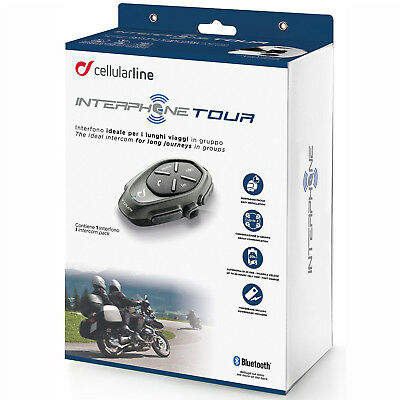 Motorcycle Hands Free Headset-Interphone Tour Intercom Single Pack Bluetooth
