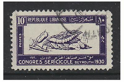 Lebanon - 1930, 10p Silk Congress stamp - G/U - SG 160