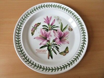 "PORTMEIRION BOTANIC GARDEN 10.5"" DINNER PLATE Lily Flowered Azalea EXCELLENT CON"