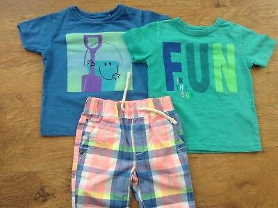 100% Next Baby Boys Small Spring Summer Bundle/outfits  9-12Mths Tops Shorts