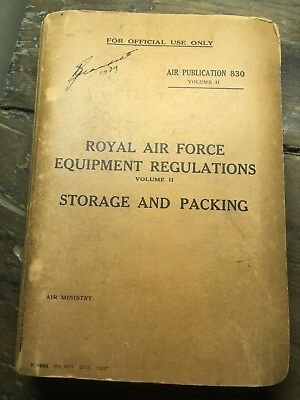 royal airforce equipment regulations aircraft airplane wwII 1937