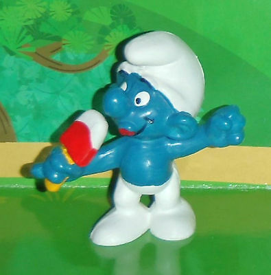 Vintage Ice Jolly Smurf Eating An Ice Cream 1979 Smurf Lot
