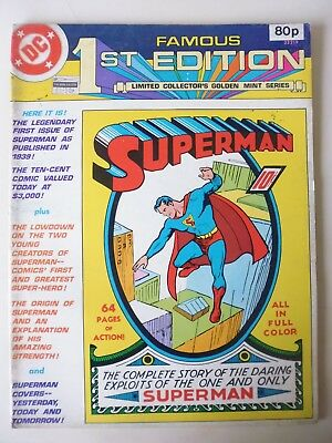 FAMOUS 1st EDITION - C-61.  1979 TREASURY SIZE REPRINT OF SUPERMAN # 1 FROM 1939