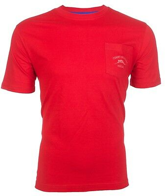 TOMMY BAHAMA Mens T-Shirt BALI HIGH TIDE POCKET Embroidered RED Relax $48 NWT