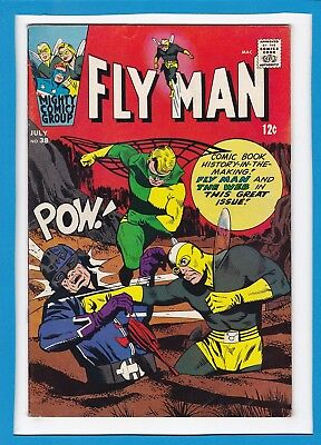 Fly Man #38_July 1966_F/vf_Fly Man & The Web Together_Mighty Comics!