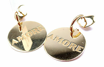 New! Authentic Pasquale Bruni Amore 18k Yellow Gold Earrings