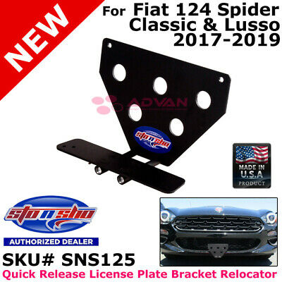 STO N SHO SNS125 For 17-18 Fiat 124 Spider Classica Lusso License Plate Bracket