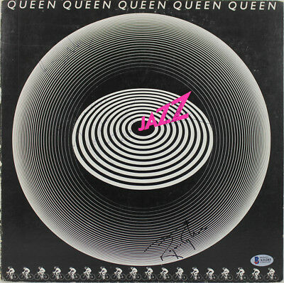 Queen (4) Freddie Mercury, Taylor, May & Deacon Signed Album Cover BAS #A11203