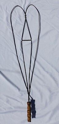 Early Antique Victorian Hand Wrought Rug Beater Primitive Heart Shaped Decor