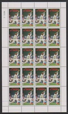 St Vincent Grenadines - 1988, 75c M.D Crowe Cricketer sheetlet - MNH - SG 575