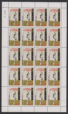 St Vincent Grenadines - 1988, $2 M.D Marshall Cricketer sheetlet - MNH - SG 578