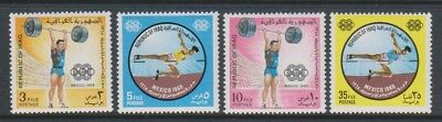 Iraq - 1969, Olympic Games, Mexico (1968) set - MNH - SG 839/42