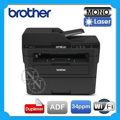 Brother MFC-L2730DW 4in1 Mono Laser Wireless Printer+Auto Duplex+ADF+FAX *RFB*