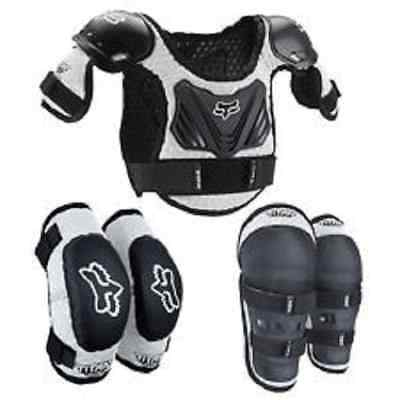 Fox Pee Wee Kids M/L Roost Guard Protection Chest Back Elbow & Knee Guards F11