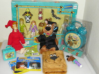 Scooby Doo Collection Lot Action Figures Set Double Bell Alarm Clock Toys + More