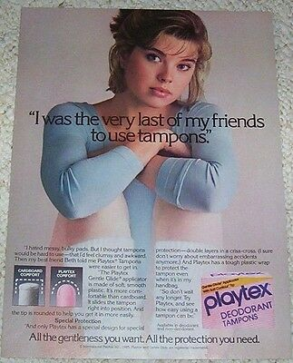 1984 ad page - Playtex Tampons -CUTE dancer Girl- vintage PRINT advert clipping