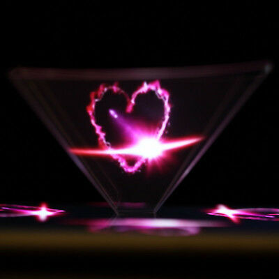 3D Hologram Pyramid Display Projector Video for Universal Cell Phone Easy