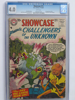 SHOWCASE #  11 	US DC 1957 CHALLENGERS OF UNKNOWN (3rd) Jack KIRBY CGC 4.0 VG