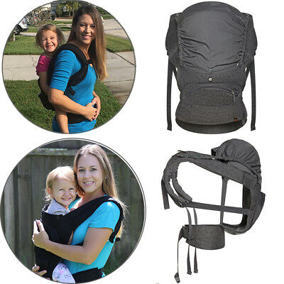 Gray Front & Back Cotton Carrier Removable Raincover Baby Toddlers 5-48Months UK