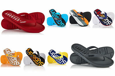 New Mens Superdry Flip Flops Selection - Various Styles & Colours 2304
