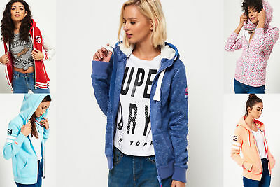 New Womens Superdry Hoodies Selection - Various Styles & Colours 2304 1