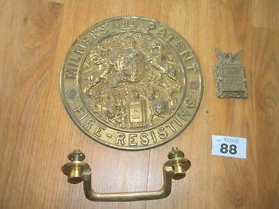 Vintage Milner Safe Plaque / Fittings