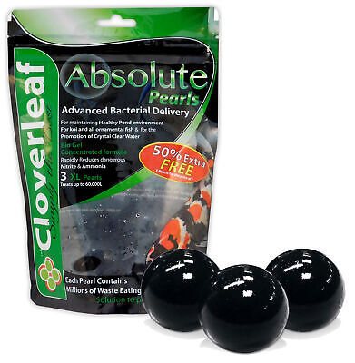 Cloverleaf Absolute Pearls XL 3 Balls Nitrate Ammonia Bacteria Clear Water Pond
